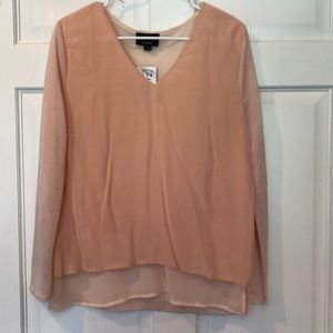 Tops - NEW Light pink blouse- size Large